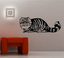 TABBY CAT wall art sticker vinyl decal BEDROOM LOUNGE