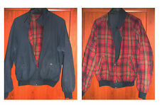 Giubbotto Harrington BULL & BEAR Double Face Blu / Tartan Red Skin Casual Mods