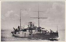 "Royal Danish Navy Real Photo."" Hekla"" Cruiser then Submarine Tender. c 1900"