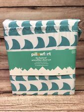 Pillowfort kids FULL Sheet Set Fin Festival Shark Fins Childrens Bedding Sheets