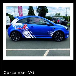 Vauxhall Corsa VXR Design Car Sport Graphics Sticker Garages Decal Cool Design