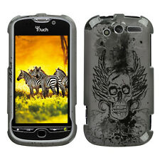 For T-Mobile myTouch 4G Hard Protector Case Snap on Phone Cover Vintage Skull