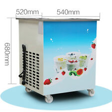 36cm round pan fried ice cream machine ice cream roll maker Safty Use Compressor