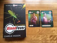 Blood Fever (Young Bond) by Charlie Higson, VG Cond Paperback with Trading Cards