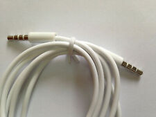 High Quality 3.5mm Jack To Jack Aux Cable Audio Lead For IPhone,IPad, Mp4, White