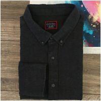 UNTUCKit Men's Flannel Cotton Long Sleeve Button Down Shirt Size 2XL Gray
