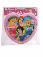 3pc Dining Feeding Gift Set Heart Shaped Plate Bowl Cup Disney Princesses New