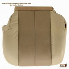 2001 2002 GMC Yukon Denali XL -Driver Side Bottom LEATHER Seat Cover 2-Tone Tan