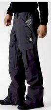 $200 New Mens Adidas Greeley Snowboarding Pants Medium Black Ski Originals