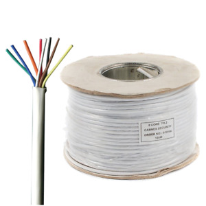 8 Core Alarm Security Cable, BS4737-3.30 TYPE 3 - 100M WHITE PVC TCCA