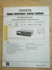 Toyota Radio Service Manual ~ 08600-00809 ~Fujitsu CQ-YS071F  mp