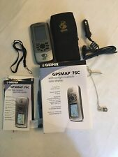 NICE Garmin GPSMAP 76C Bundle With Case, Power Cable And Marine Mounting Bracket