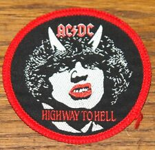 AC/DC HIGHWAY HELL ORIGINAL VINTAGE EMBROIDERED WOVEN COLTH SEWING SEW ON PATCH