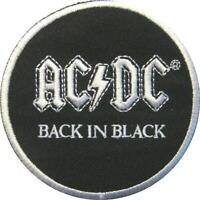 AC/DC AUFBÜGLER EMBROIDERY PATCH # 66 BACK IN BLACK 7cm BÜGELBILD FLICKEN