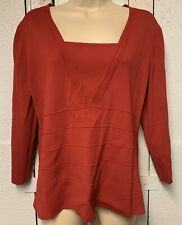 Red Womens Jumper Long Sleeve Size L - Cable And Gauge