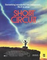 SHORT CIRCUIT Movie POSTER 11x17 B Steve Guttenberg Ally Sheedy Austin Pendleton