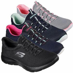 Skechers Summits Slip On Memory Foam Walking Sports GYM Womens Trainers Shoes Sz