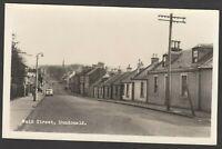 Postcard Dundonald near Kilmarnock Scotland houses in Main Street RP