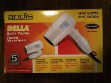 Andis Bella Quiet Turbo 1875 Watts Portable Foldable Travel Hair Dryer - New