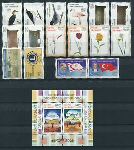 Cyprus Turkish Year Set 2003 MNH Complete with High Values Series Singles Block