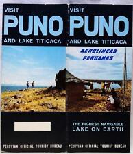 AEROLINEAS PERUANAS AIRLINES PUNO LAKE TITICACA PERU TOURISM BROCHURE 1960s