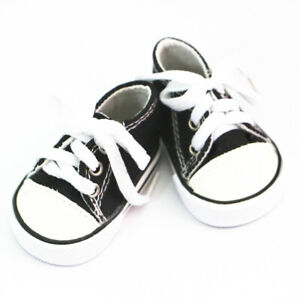 Black Lovely Doll Sneaker Flats Shoes for 18 inch AG American Doll Doll Dolls