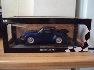 MINICHAMPS PORSCHE 911 TURBO 1990 - BLUE METALLIC - LIMITED EDITION 1/18