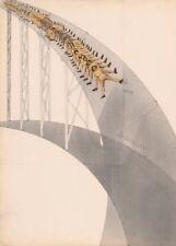 """LASZLO MOHOLY-NAGY """"Rutschbahn (Slide), detail""""  Bauhaus Constructivism Poster"""