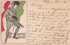 """A9814) WW1 BERSAGLIERI, FRANCHIGIA PRIVATA """"PER LA PATRIA PER LA LIBERTA'"""". VG"""