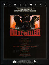 ROTTWEILER aka DOGS OF HELL__Original 1983 Trade AD / promo__EARL OWENSBY__1984