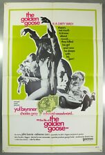 THE FILE OF THE GOLDEN GOOSE - YUL BRYNNER - ORIGINAL USA ONE SHEET MOVIE POSTER