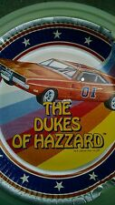 "(5) Vintage Dukes of Hazzard General Lee Car 9"" Paper Plate Printed 1981"