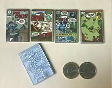 * FTF Craze geocoin Complete set of 4+Bonus (5 coins) comics  unactivated