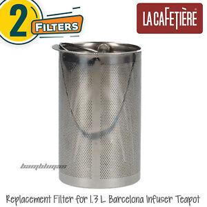 2x La Cafetière Replacement Filter for 1.3 L (7-Cup) Barcelona Infuser Teapot