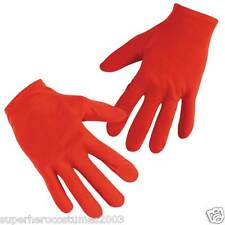 Avengers Captain America Classic ADULT Gloves Marvel Comics Disguise - Red 19044