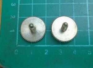 vintage guitar bridge height adjustment wheels & posts (pair)