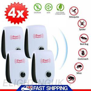 4 pcs 2021 Ultrasonic Pest Repeller Control Electronic Repellent Mice Rat Reject