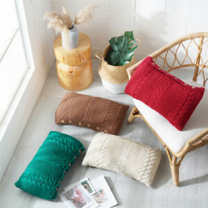 New Soft Knitted Throw Pillow Sofa Back Waist Bed Back Cushion Office Home Decor