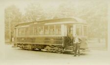 7B591 RP 1935 MANCHESTER STREET RAILWAY CAR #84 ONE MAN WOOD CITY CAR   NH