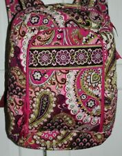 Vera Bradley Iconic Campus Tech Laptop Backpack Bag L Very Berry Paisley retired
