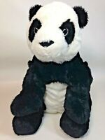 "IKEA Polar Bear Plush Black White Stuffed Animal Kramig Sewn Eyes 12"""