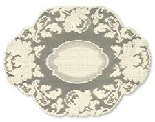 """Heritage Lace """"Windsor"""" 2 Placemats Ecru 14"""" X 20"""" New W Tag"""