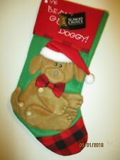 "DOG  CHRISTMAS STOCKING "" I'VE BEEN A GOOD DOGGY""  NWT"