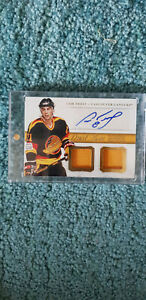 2013-14 National Treasures Cam Neely Dual Memorabilia Autographed Card Canucks