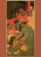 BITTER CAMPARI, Italia, 1910 da Adolfo HOHENSTEIN, 250gsm A3 Poster Art Nouveau