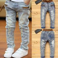 Kids Young Boys Clothing Pants Children Boy Denim Jeans Trousers Bottoms 5-10T