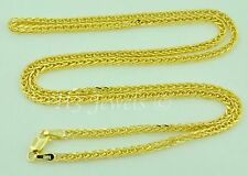 5.00 grams 14k solid yellow gold foxtail wheat chain necklace 24  inches #4857