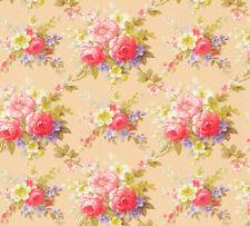 Vlies Tapete Blumen Bouquet aprokot rot gelb Floral glanz 34508-2 Chateau 5