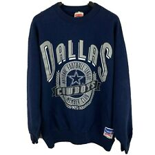 Rare Vtg 90s Dallas Cowboys Nutmeg Member Club Nfl Sweatshirt Med Navy Made Usa