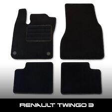 Fußmatten Renault Twingo 3 (ab 2014) Schwarz nadelfilz Mit Fußablage 4tlg
